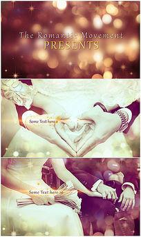 金色典雅光斑浪漫婚禮相冊ae模板
