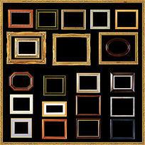 金色相框描金图片画框荣誉证书框