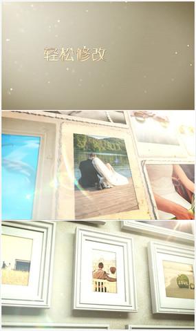3d典雅立体爱情相框展示ae模板 aep