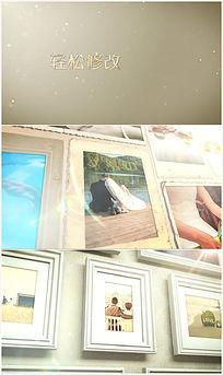 3d典雅立体爱情相框展示ae模板