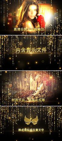 高端时尚金色粒子图文展示视频片头模板