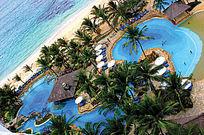 岛上景区游泳池效果图