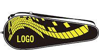动感科技黑黄图形羽毛球拍包