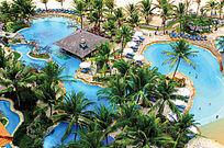 海南岛主题游泳池意向图
