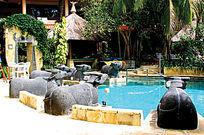景区个性游泳池实景图