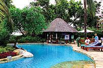 酒店室外游泳池实景图