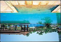 酒店游泳池倒影图
