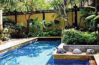 马赛克小型游泳池实景图