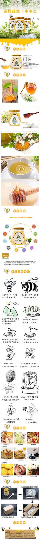 天猫卡通洋槐蜂蜜宝贝描述