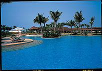 中式公园游泳池