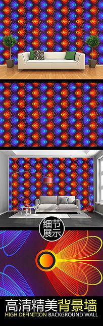 抽象莹火虫光影四方连续图案背景墙