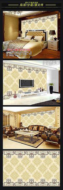 皇家至尊欧式古典花纹电视背景墙