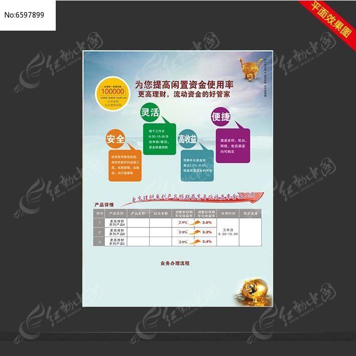 流动资金理财管理单页设计图片
