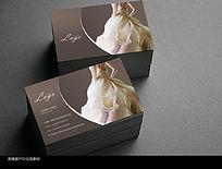 时尚婚纱摄影名片模板