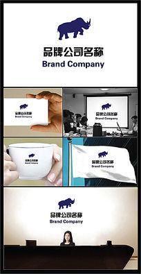 犀牛图案的行业标志