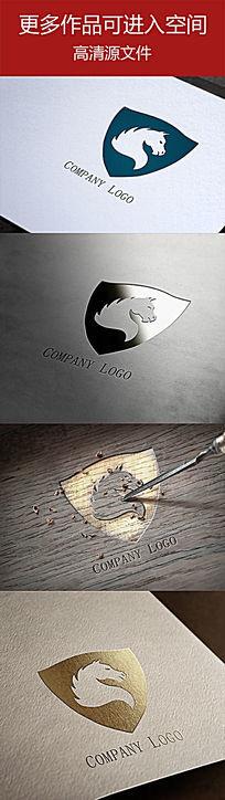 忠厚安全卫士盾牌马公司标志