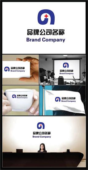 字母G和星星组合的公司标志