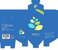 蓝色英国健康早餐食品包装设计