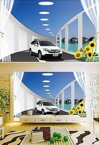 汽车展厅立体背景墙