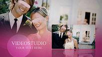 温馨迷人结婚照片展示会声会影模板