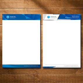 立体空间科技公司信纸设计