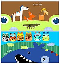 动物可爱图案