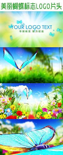 美丽蝴蝶标志LOGO片头模板