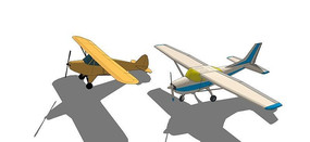 2款螺旋桨飞机模型