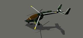 迷彩武装直升机
