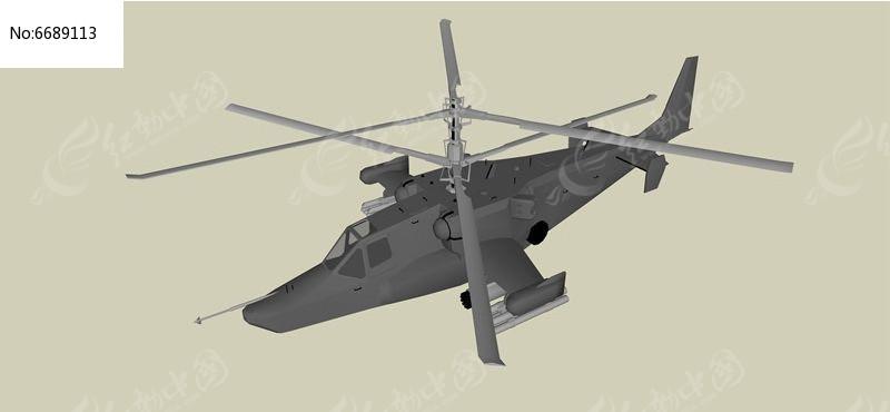 双螺旋直升机模型图片