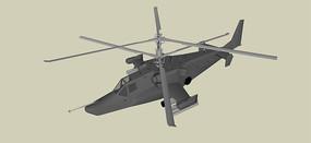 双螺旋直升机模型