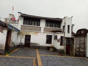 白墙青瓦建筑立面装饰图