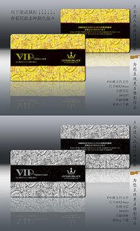 立体欧式底纹背景VIP卡