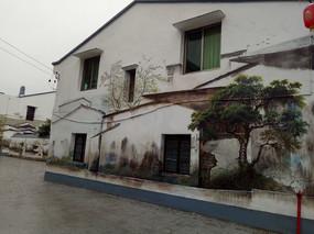 中式建筑墙面手绘意向图