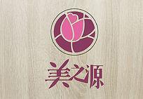 紫色唯美美容logo