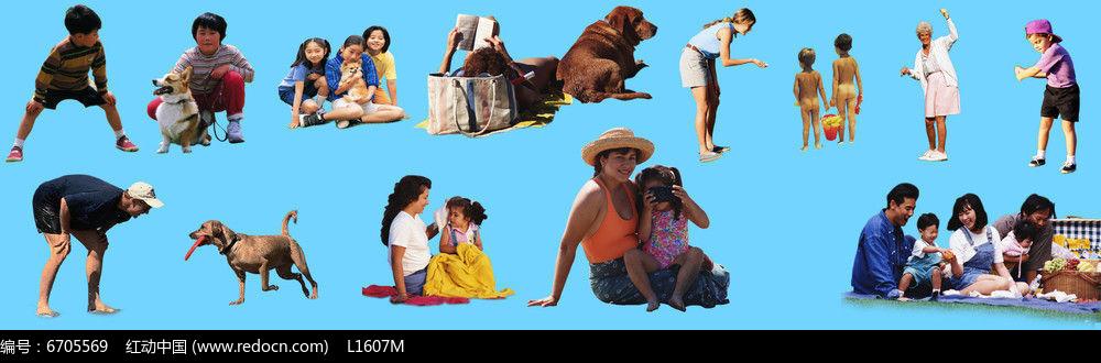 沙滩上的人素材图片
