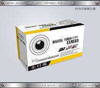 黄黑间隔背景CCTV摄像头包装