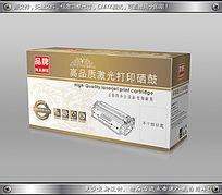 金色彩印背景底纹硒鼓包装盒cdr