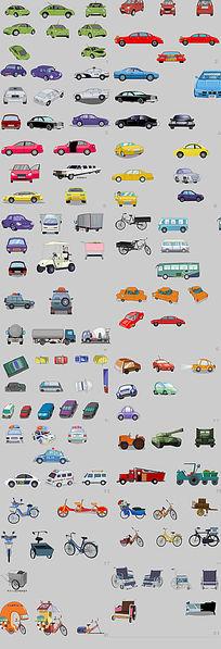 卡通汽车矢量图flash设计元素