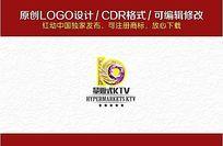 K9字母组合KTV炫彩标志