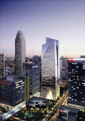 城市道路夜景图片