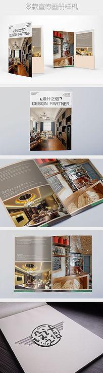 四款多角度带护封的画册杂志展示样机