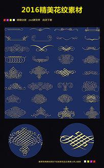 欧式金色图案矢量花纹底纹图片下载