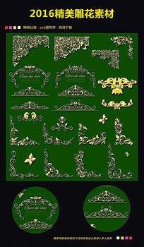 古典金色花边花纹素材下载