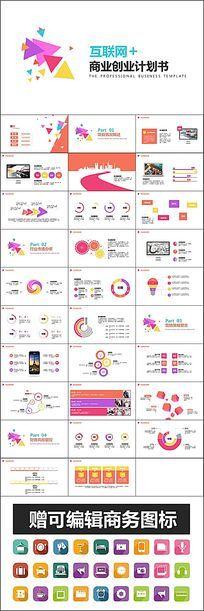 互联网+商业创业计划书ppt模板