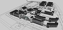 古建博物馆和行政楼规划SketchUp模型