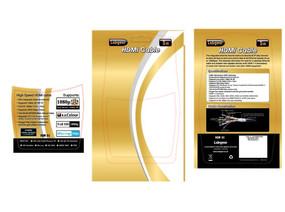金黄色纸卡电子产品包装设计Ai素材 AI