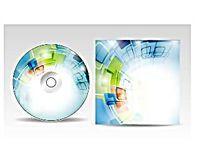 蓝色科技CD光盘包装盒