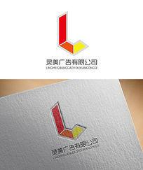 红色简约广告公司LOGO