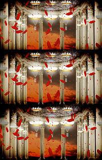 宫廷舞蹈罗马柱大厅歌剧大厅视频LED素材